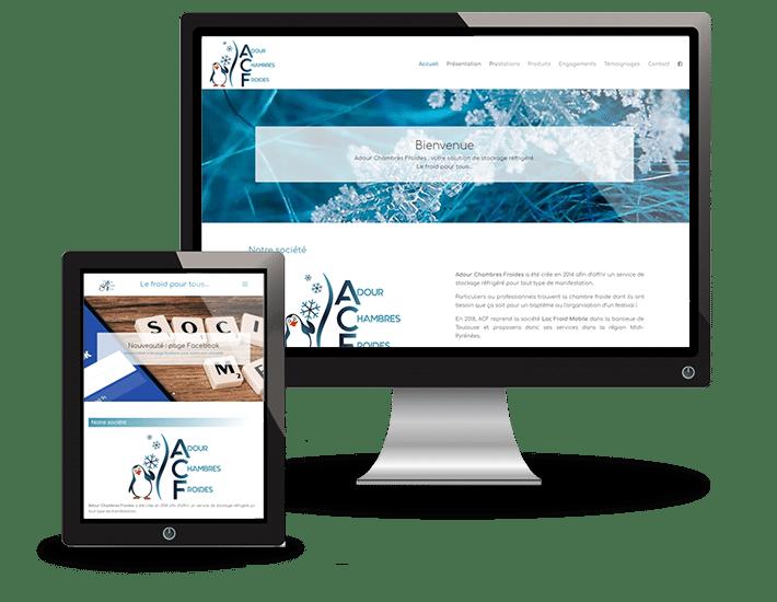 Création du site Adour Chambres Froides