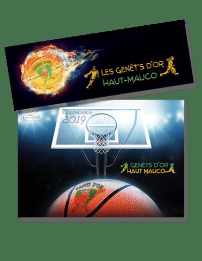 Banderole salle de basket et calendrier des Genêts d'Or