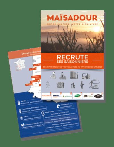 Flyer Maïsadour recrutement des saisonniers