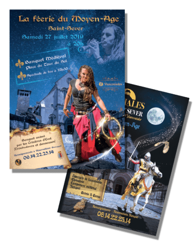 Affiches des Vasconiales à Saint Sever - 2018 et 2019
