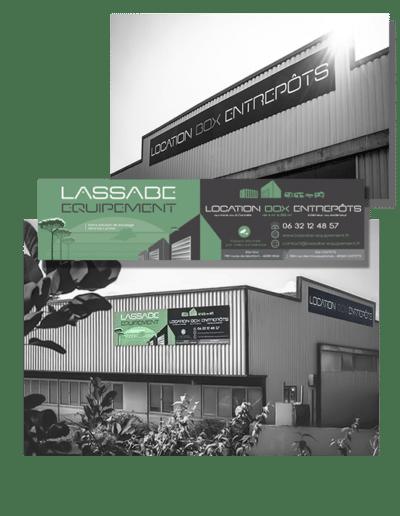 Création panneaux signalétique Lassabe Equipement à Hinx