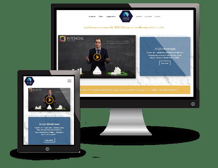 ACQS Patrimoine - refonte de site