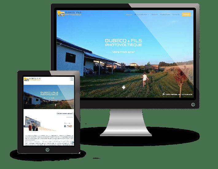 DUBECQ & Fils Photovoltaïque - Création de site